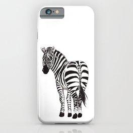 Zebra looking back iPhone Case