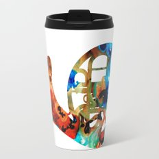 French Horn - Colorful Music By Sharon Cummings Travel Mug