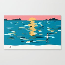 Sunset (My Dad Used To Be So Cool) Canvas Print