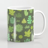 succulents Mugs featuring Succulents by Anna Alekseeva kostolom3000