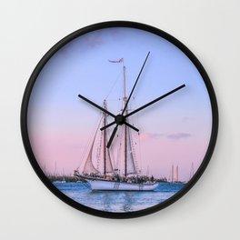 Sailing Yacht Wall Clock