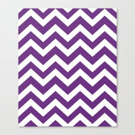 Eminence - violet color - Zigzag Chevron Pattern Canvas Print