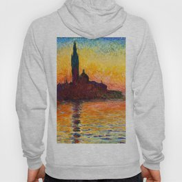 San Giorgio Maggiore at Dusk - Claude Monet Hoody