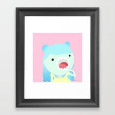 Sweet Kawai zombie Framed Art Print