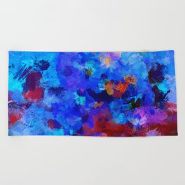 Abstract Seascape Painting Beach Towel