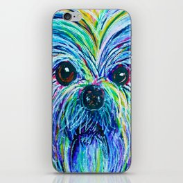 Shih Tzu Intense Colors iPhone Skin