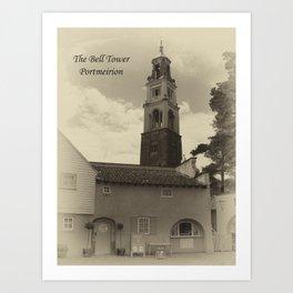 Portmeirion bell tower Art Print
