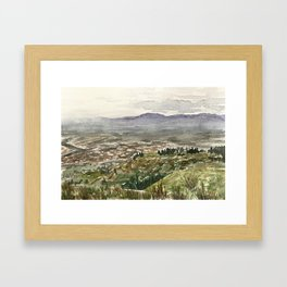 Foggy morning in Tunari National Park, Bolivia Framed Art Print