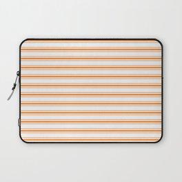 Bright Orange Russet Mattress Ticking Wide Striped Pattern - Fall Fashion 2018 Laptop Sleeve