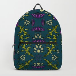 Wild Thistles on Teal Backpack