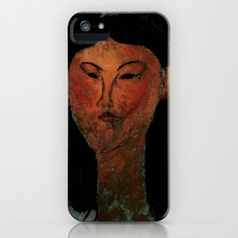 "Amedeo Modigliani ""Beatrice Hastings"" (1915) iPhone Case"