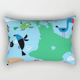 new zealand birds detail animals fly Rectangular Pillow