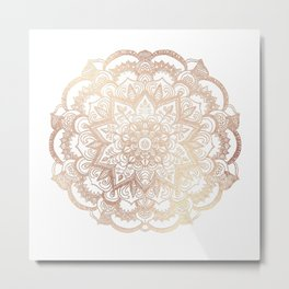 Mandala Gold Shine II Metal Print