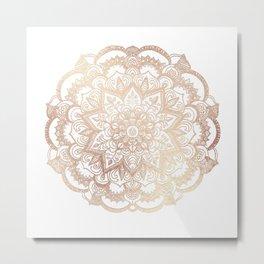 Mandala Gold Shine II Metal Print