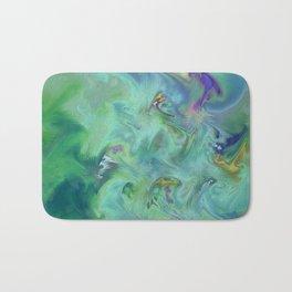 Wall Art- Abstract- Kitchen Art- AirBnB- Modern Art- Green- Interior Design Bath Mat