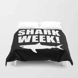 Shark week (on black) Duvet Cover