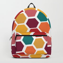 Bright and Happy Geometric Pattern Backpack