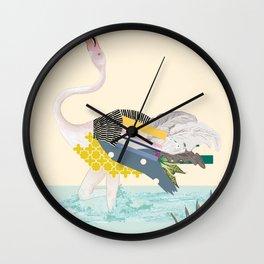 dancing flamingo Wall Clock
