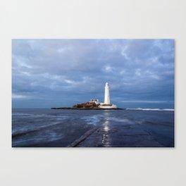 Dusk at St Mary's Lighthouse II Canvas Print