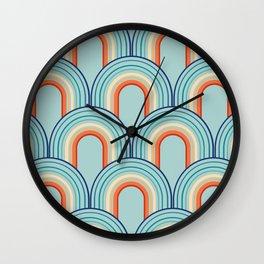Rainbow Arch Minimal Abstract Wave #2 #decor #art #society6 Wall Clock