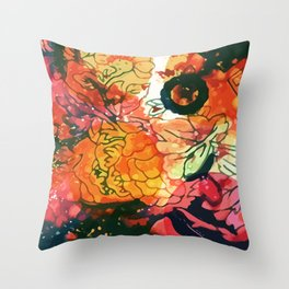 Vintage Pop Abstract Chinese Pattern Throw Pillow