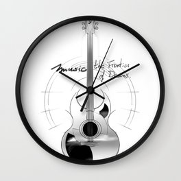 The acoustic guitar - Music, The Frontier of Dreams. Wall Clock