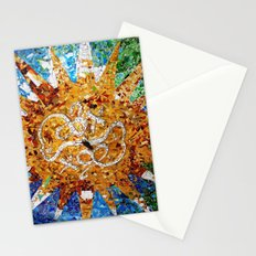 Barcelona, Spain. Parque Guell Mosaic. Stationery Cards