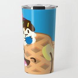 Waffles and Ice Cream Travel Mug