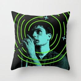 Ian Curtis Throw Pillow