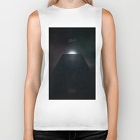 2001 a space odyssey Biker Tanks featuring 2001 A Space Odyssey alternative movie poster by LionDsgn