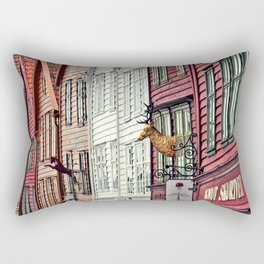 The heart of Bryggen Rectangular Pillow