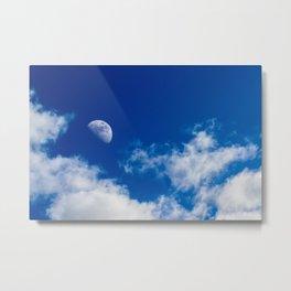 Moon and sky Metal Print