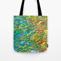 army Tote Bags featuring Squid Army by Itsybats