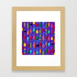 background stones jewels Framed Art Print
