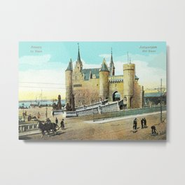 Antwerpen Antwerp Steen medieval castle Metal Print