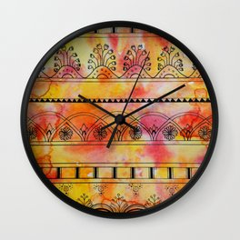 Pitter Pattern 1 Wall Clock
