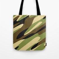 camo Tote Bags featuring Camo by SShaw Photographic