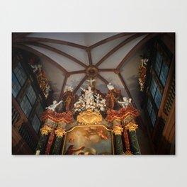 German Church Old Architecture Sculptures Canvas Print