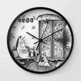 Unicorn house Wall Clock