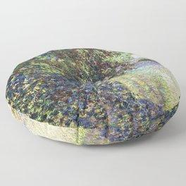 Claude Monet - Watermill at Limetz - Impressionism Floor Pillow
