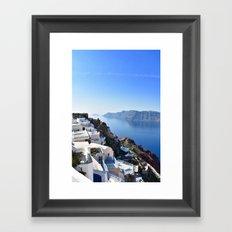 Blue & White Paradise Framed Art Print