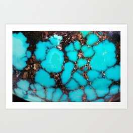 Macro Turquoise Art Print