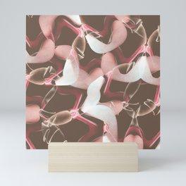 Raspberry Sandal Twist Mini Art Print