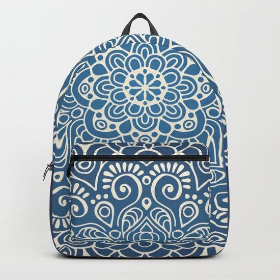 Mandala dark blue Backpack