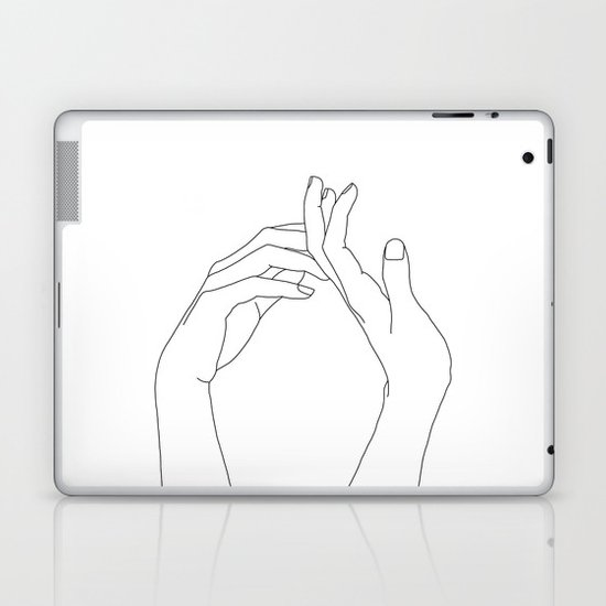 Hands line drawing illustration - Abi by thecolourstudy