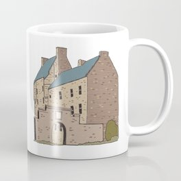 Hand drawn image of a Scottish Castle Coffee Mug