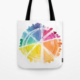 Watercolor Wonder Wheel Tote Bag