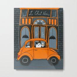Le Chat Noir Cafe Metal Print