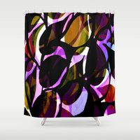 weed Shower Curtains featuring Red weed. by Sarah Bagshaw