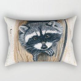 Tree Bandit - raccoon, animal, nature, wildlife Rectangular Pillow
